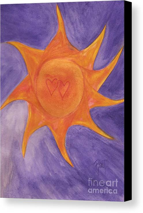Sun Canvas Print featuring the painting Connected by Robert Meszaros