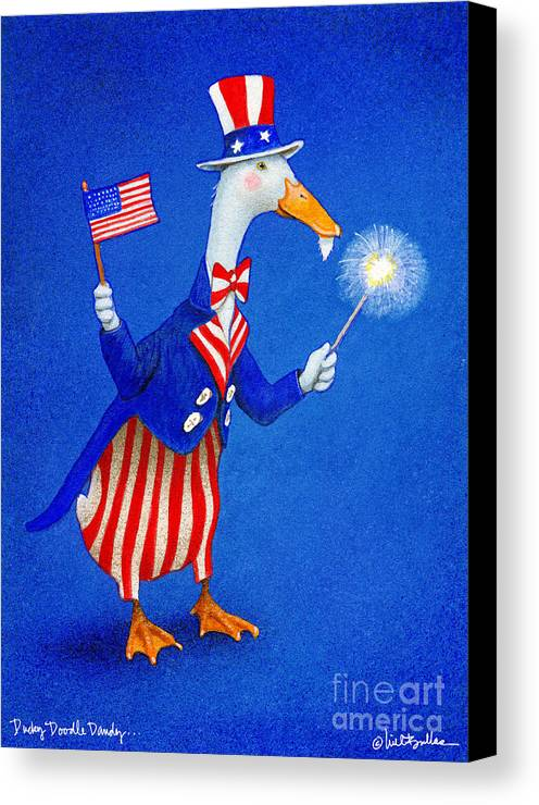 Will Bullas Canvas Print featuring the painting Ducky Doodle Dandy... by Will Bullas