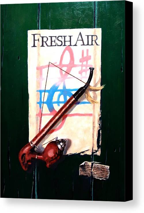Still Life Canvas Print featuring the painting Fresh Air by Jim Gola