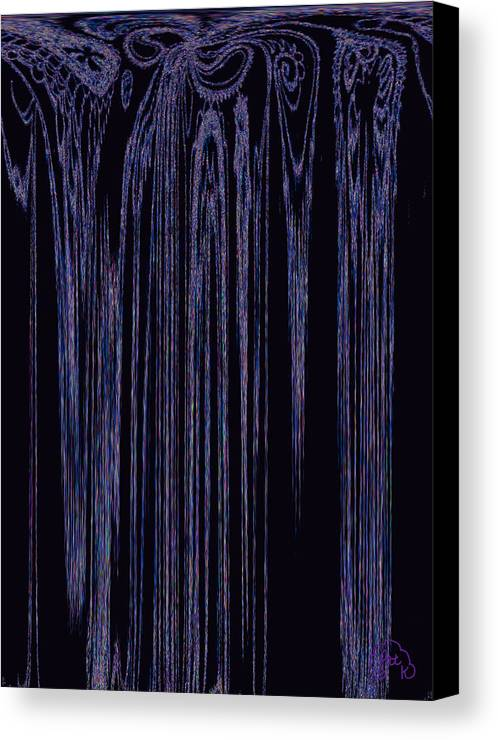 Digital Art Canvas Print featuring the digital art Fringe by Patricia Kay
