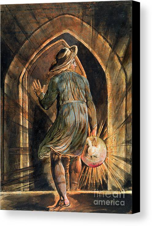 Front Page Canvas Print featuring the painting Frontispiece To Jerusalem by William Blake