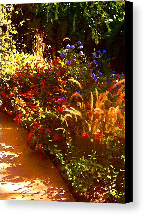 Canvas Print featuring the painting Garden Pathway by Amy Vangsgard