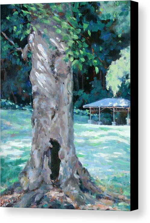 Percy Warner Park Canvas Print featuring the painting Gentle Giant by Sandra Harris