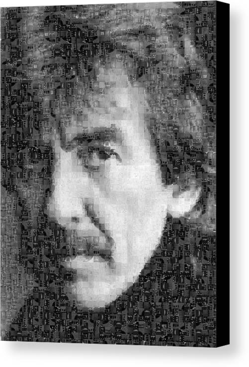 Beatles Canvas Print featuring the photograph George Harrison Mosaic Image 6 by Steve Kearns