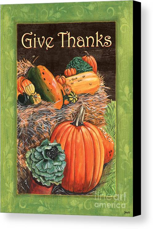 Thanksgiving Canvas Print featuring the painting Give Thanks by Debbie DeWitt