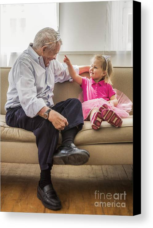 Grandpa Canvas Print featuring the photograph Grandpa's Little Princess by Diane Diederich