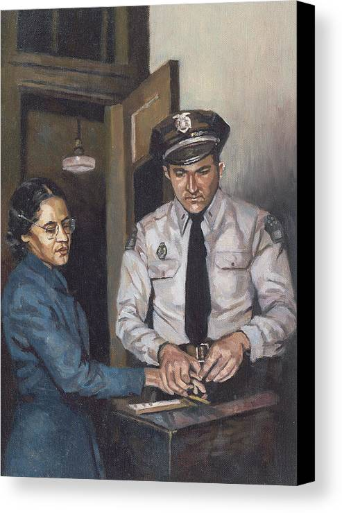 Bus Canvas Print featuring the painting Identification Rosa by Colin Bootman