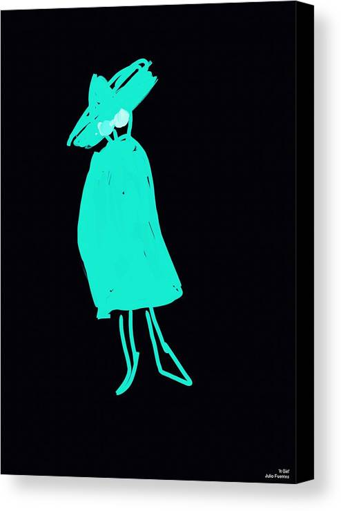 It Girl Canvas Print featuring the painting It Girl Inverted by Julio Fuentes