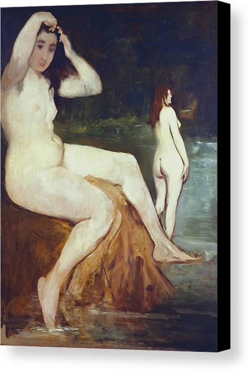Vertical Canvas Print featuring the photograph Manet, �douard 1832-1883. Bathers by Everett