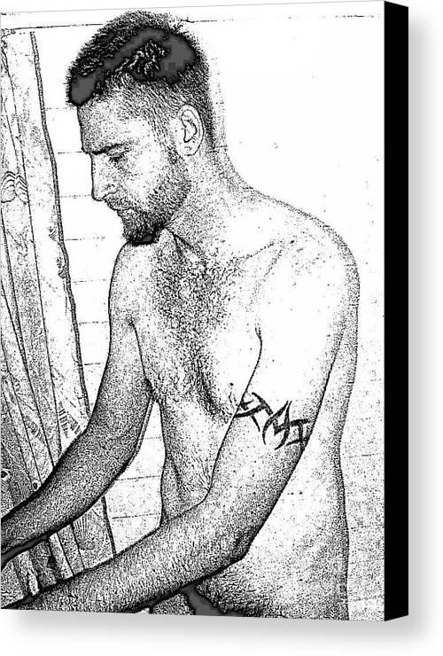 Man Canvas Print featuring the digital art Michael by Bob Semk