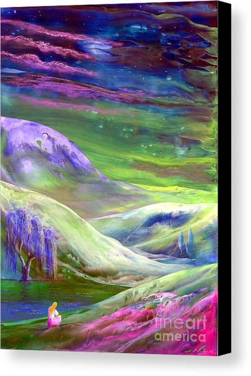 Moonlight Canvas Print featuring the painting Moon Shadow by Jane Small