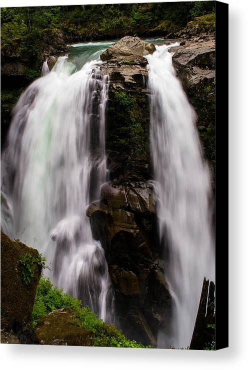 Waterfalls Canvas Print featuring the photograph Nooksack Falls by Blanca Braun
