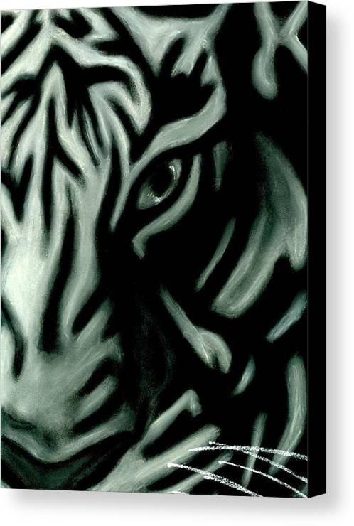 Tiger Canvas Print featuring the pastel Pastel Tiger by Matthew Howard