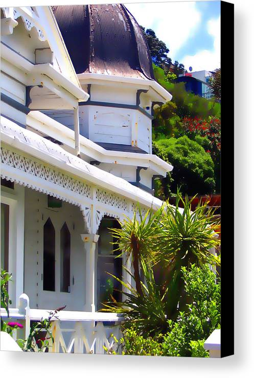 House Canvas Print featuring the photograph Quaint Old House by Amber Nissen