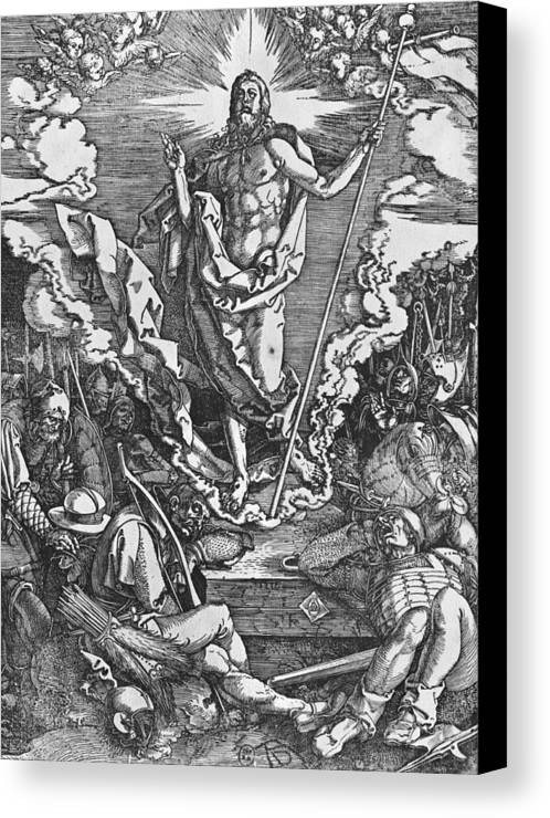 Male Canvas Print featuring the painting Resurrection by Albrecht Duerer