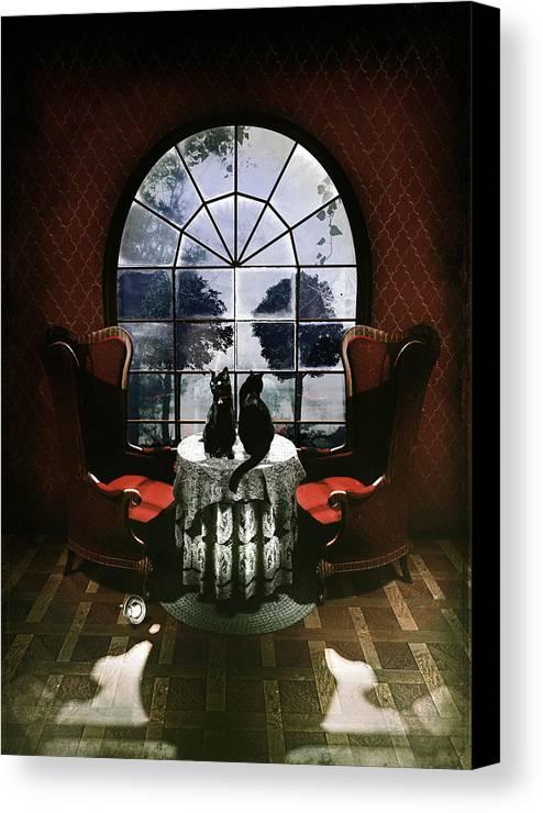 Room Canvas Print featuring the digital art Room Skull by Ali Gulec