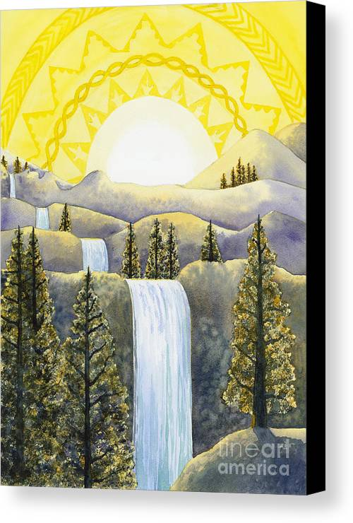 Power Canvas Print featuring the painting Solar Plexus Chakra by Catherine G McElroy