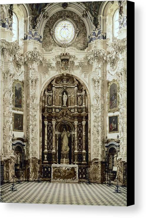 Vertical Canvas Print featuring the photograph Spain. Granada. Cartuja Carthusian by Everett