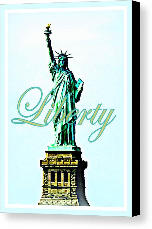 Statue Of Liberty Canvas Print featuring the photograph Statue Of Liberty by The Creative Minds Art and Photography