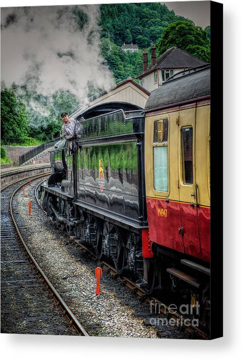 Steam Locomotive Canvas Print featuring the photograph Steam Train 3802 by Adrian Evans