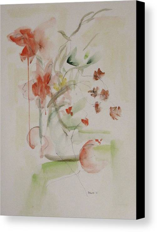 Summer Canvas Print featuring the painting Summer Flowers by Ruth Hurd