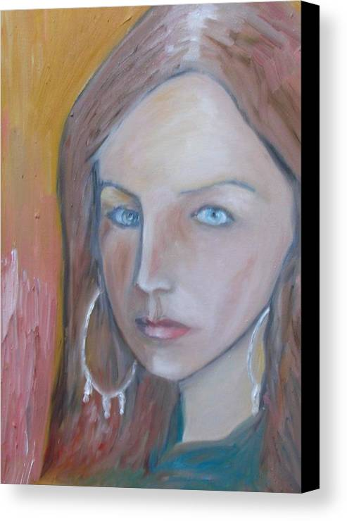 Portraiture Canvas Print featuring the painting The H. Study by Jasko Caus
