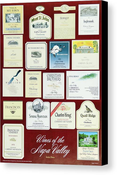 Poster Canvas Print featuring the photograph Wines Of The Napa Valley - Series 3 by J Michael Orr