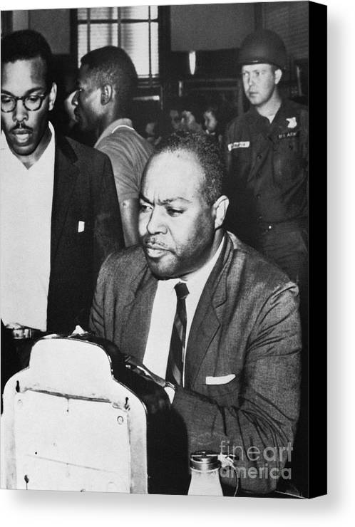 1961 Canvas Print featuring the photograph James Farmer (1920-1999) by Granger