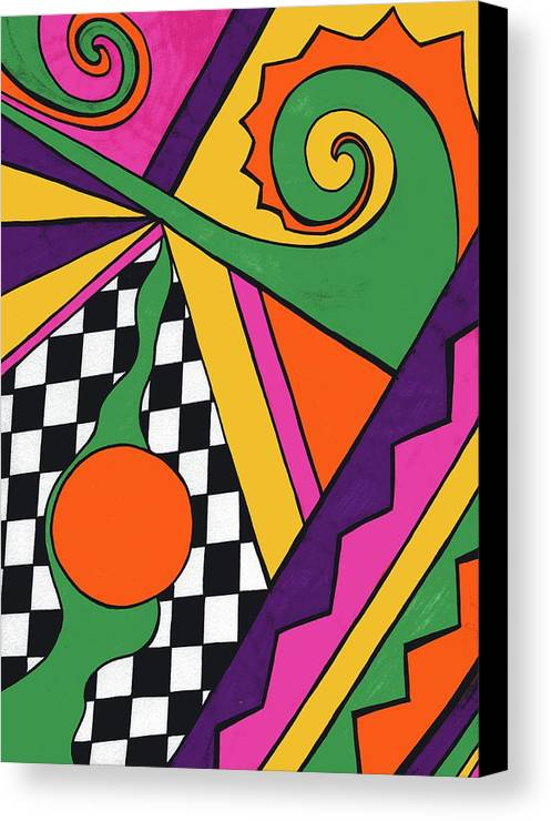 80's Glam Canvas Print featuring the drawing 80's Glam by Mandy Shupp