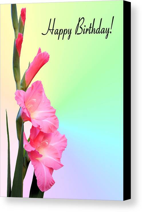Happy Birthday Canvas Print featuring the photograph August Birthday by Kristin Elmquist