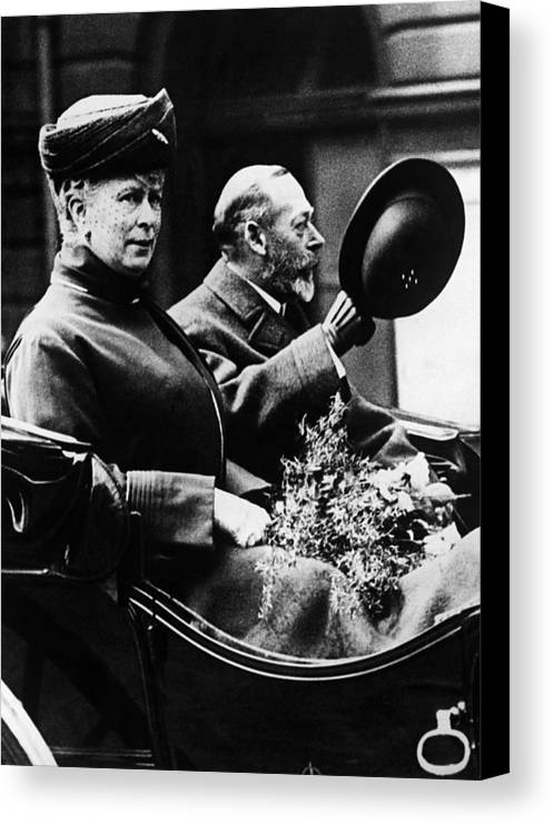 1920s Canvas Print featuring the photograph British Royalty. Queen Mary Of Teck by Everett