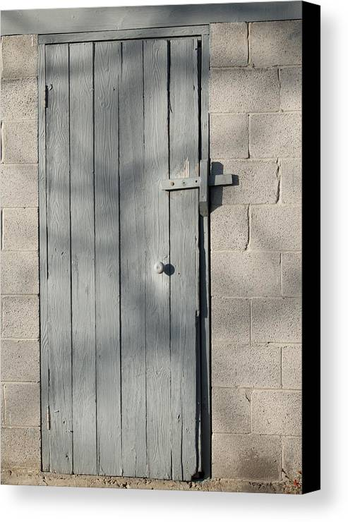 Door Canvas Print featuring the photograph Farm Shed Door by Wilma Birdwell