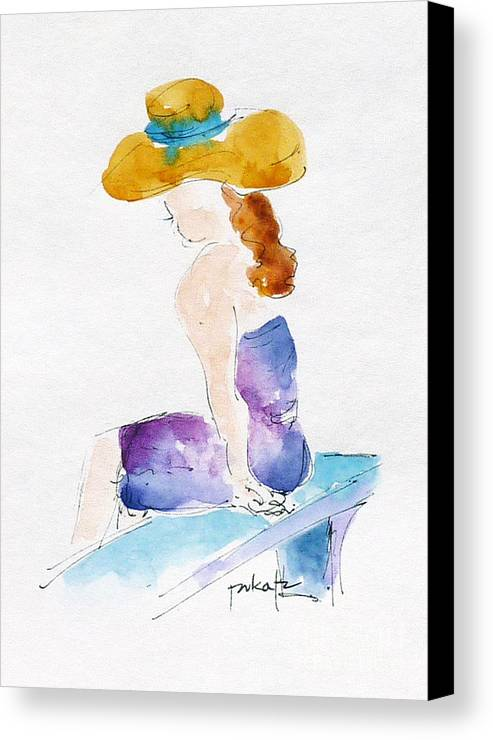 Impressionism Canvas Print featuring the painting Hilo Hattie Fashionista by Pat Katz