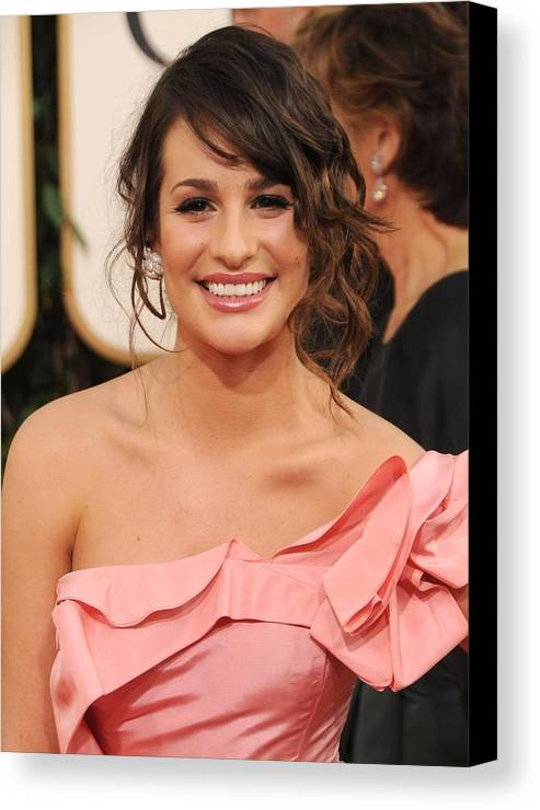 Lea Michele Canvas Print featuring the photograph Lea Michele At Arrivals For The by Everett