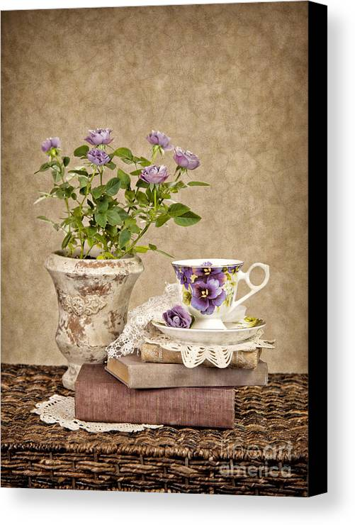 Teacup Canvas Print featuring the photograph Simple Pleasures by Cheryl Davis