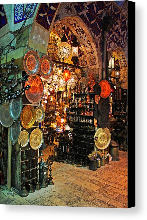 Market Canvas Print featuring the photograph Turkish Market by Angela Siener