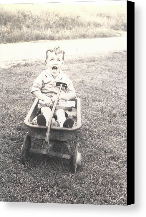 Digitized Canvas Print featuring the photograph Vintage Wagon by Alan Espasandin