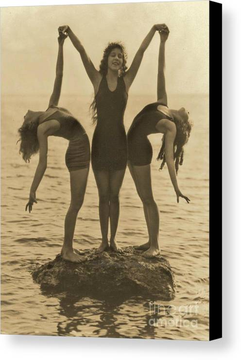 Water Nymphs Canvas Print featuring the photograph Water Nymphs by Padre Art