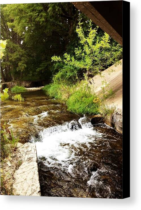 River Canvas Print featuring the photograph Waterfal by Glenda Graham