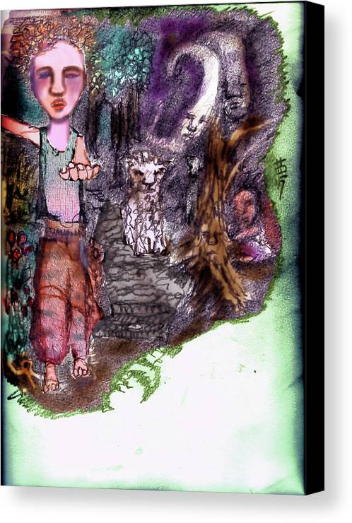 Sorrow Canvas Print featuring the mixed media Dream by Cynthia Richards
