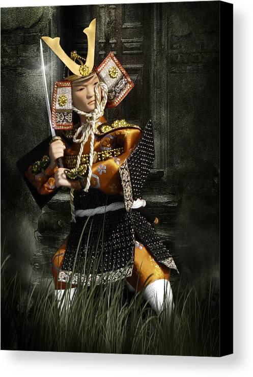 Japan Canvas Print featuring the photograph Japanese Samurai Doll by Christine Till
