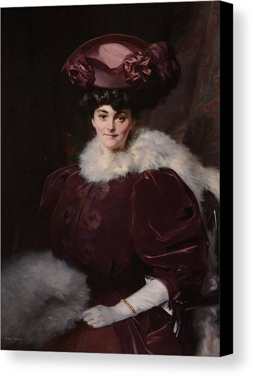 George Murray (1875-1933) Lady Lindsay Canvas Print featuring the painting Lady Lindsay by George Murray