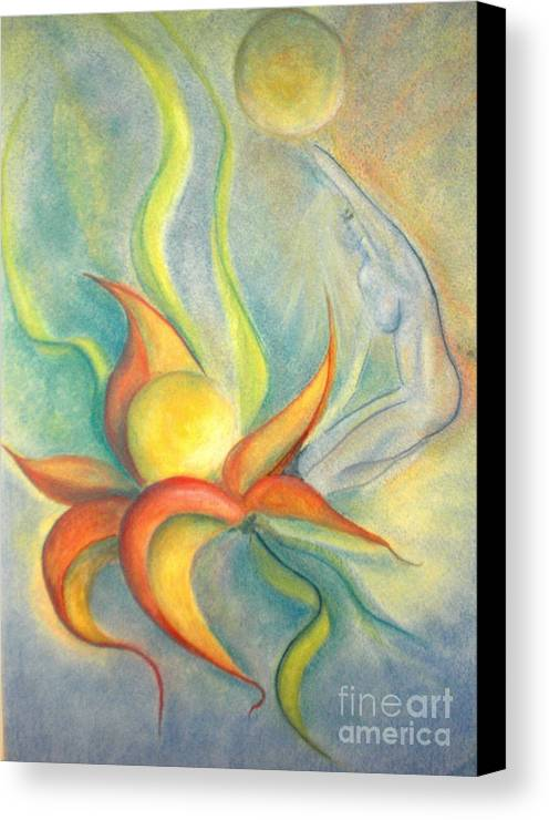 Flower Canvas Print featuring the painting Menopause by Vivian Mosley