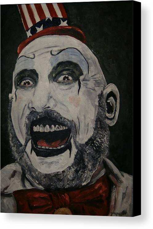 House Of 1000 Corpses Canvas Print featuring the painting The Good Captain by Deana Smith