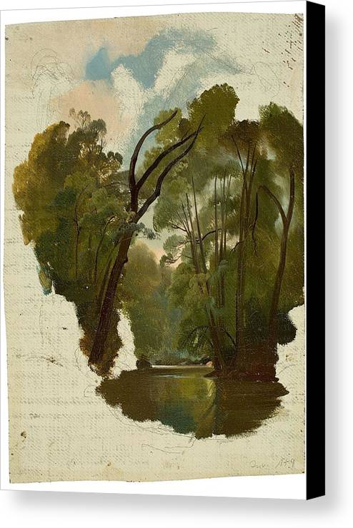 The Forest Canvas Print featuring the painting The Forest by MotionAge Designs