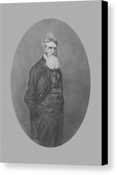 John Brown Canvas Print featuring the photograph Abolitionist John Brown by War Is Hell Store