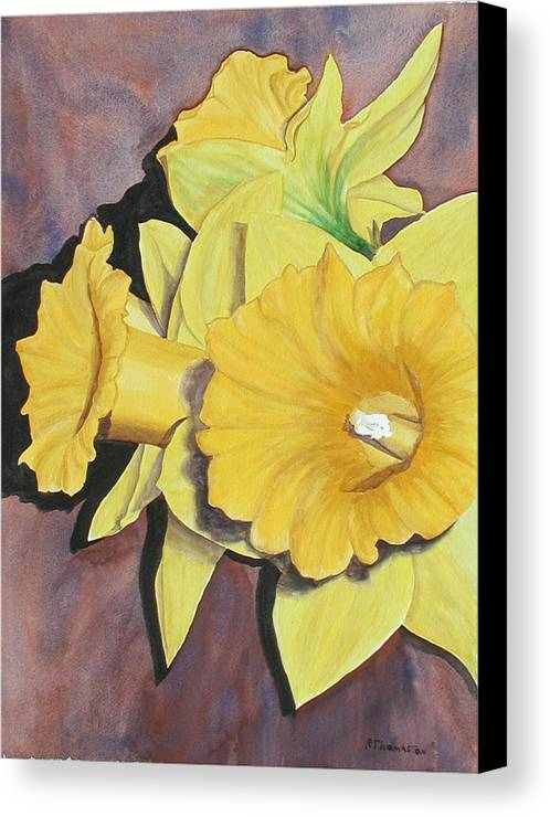 Fine Art Canvas Print featuring the painting After The Tulips by Robert Thomaston