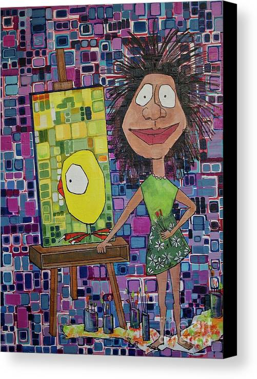 Artist Canvas Print featuring the painting amy by Donna Howard