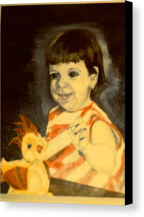 Portrait Child Angel Canvas Print featuring the painting An Angel From Heaven by Alfred P Verhoeven