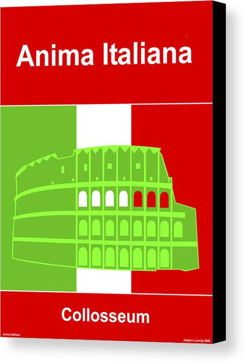 Anima Italiana Canvas Print featuring the digital art Anima Italiana by Asbjorn Lonvig